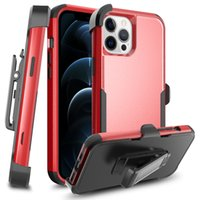 3 IN 1 Heavy Duty Shockproof Phone Cases For Iphone 13 Pro Max 12 Mini 11 Xs Xr X SE 7 8 Plus 6s 6 Samsung S21 Ultra Hybrid Armor Hard PC Protective Cover