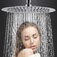 46810 pulgadas cuadrada de acero inoxidable cabezal de ducha lluvia cabezal lluvia cromo alta presión chuvireo baño grifo libre flete
