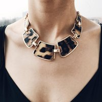 Vintage Leopard Statement Necklace For Women Fashion Gold Color Chain Choker Necklaces Charm Female Jewelry Accessories Chains