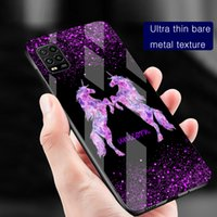 Cases Shimmering Flash powder unicorn horse Couple women Phone case cover for Samsung Galaxy S8 S9 S10 S20 S21 Ultra Note 8 9 10 20 tempered glass shockproof Protector