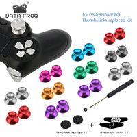 Aluminio metal analógico joystick thumb stick agarre tapa de tapa Botones de reemplazo para PlayStation 4 PS4 Slim / Pro / Xbox One Slim Controller
