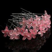 100 unid / set Mujeres Crystal Rhinestone Flowe Pin Pins Clips Boda Nupcial Barrettes Horquillas Pelo Estilo Accesorios Regalo de boda 46 N2