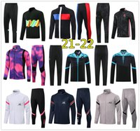 Mens napoli soccer tracksuit zip jacket Hoodie 2020 2021 men Naples football tracksuit training tuta chandal survetement jogging