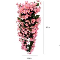 Moda Menekşe Yapay Çiçekler Duvar Asılı Sepet Çiçek Orkide Ipek Çelenkler Vine Ev Düğün Parti Sokak Işık Dekorasyon AHD6282