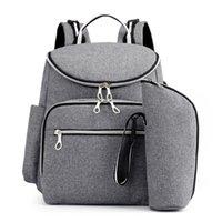 School Bags Mummy Bag USB Diaper Baby Care Large Capacity Mom Backpack Maternity Wet Waterproof Pregnant