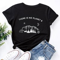 T-shirt pour femme JCGO Summer Cotton Femme T-shirt 5XL Plus Taille Harajuku Forêt Print Short Manches Graphique Tee Tee Tee Tee Casual Col O-Cou TSHI