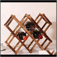 Ice Buckets And Coolers Barware Kitchen, Dining Home & Garden Drop Delivery 2021 Solid Wood Folding Racks High Quality Foldable Wine Stand Wo