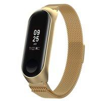 Correa de muñeca de bucle Milanés para Xiaomi MI Banda 6 5 Bandas de metal Pulsera Smart Watch Correas Cinturón de acero inoxidable