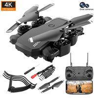 DRONE 4K HD DUAL CAMIENTE GPS DRON DRON BATERÍA LARGA Vida Pantalla real-Tiempo real con flujo óptico RC Quadcopter para niños drones