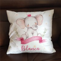 Pillow Case Bumper Bed Cushion Cover for Infant Bebe Name Personalized Crib Protector Pillow cover Room Decor Baby Gift