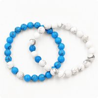 Jóias azuis pinho branco casal casal terno bracelete mulheres