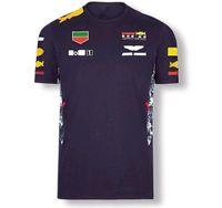 F1 الفورمولا واحد سباق تي شيرت فريق العمل مصنع الملابس سيارة مروحة عارضة جولة الرقبة قصيرة الأكمام