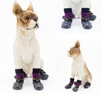 Dog Apparel 4 Pcs Pet Shoes Boots Waterproof Socks Puppy Non-slip Outdoor Feet Cover Small Medium Large Dirty-proof