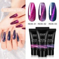 15ml 30ml Cat Eye Poly Nail Gel 3 Fashion Colors Quick Builder Extension UV LED Color Coat Gels Lady Beauty Salon