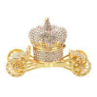 الحقائب والمجوهرات، أكياس تصغير مربع حلية مفصلية أنماط رسمت باليد مزينة بالجواهر (عربة الذهب)