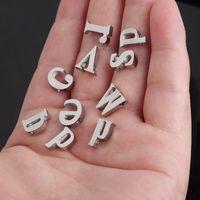 Moda 10mm mujeres 26 letra inicial colgante encanto plateado para brazalete pulsera collar pequeño A-Z alfabeto DIY encanto accesorios de joyería