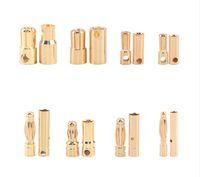 100 Paare Bullet Connector 2.0 3.0 3.5 4.0 5,5 6.0 6.5mm Batterie vergoldet Stereo-Stecker Bananenkopf