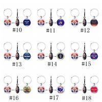Party Favor 28styles Trump Keychain President Double Side Chain USA Flag Make America Great Again Pendant Car Key Ring GGA3643