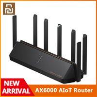 DHL SOPER Оригинал Youpin AX6000 AIOT Маршрутизатор 6000MBS WiFi6 VPN 512MB Qualcomm CPU Сетчатый ретранслятор Внешний сигнал Сетевой усилитель Mi Home