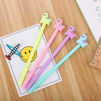 Students' neutral pen creative stationery soft plastic animation fountain pen a variety of cute cartoon pink neutral pen