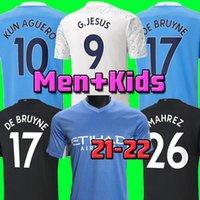 Camisa de futebol da cidade de Manchester da Tailândia 2020 2021 STERLING DE BRUYNE KUN AGUERO 20 21 Ventiladores versão de jogador homem camisa de futebol da cidade de futebol