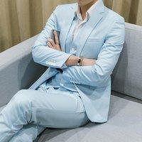 Men's Suits & Blazers Groom Suit Two-Piece Man Dress Wedding Slim Business