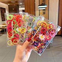 Accesorios para el cabello Anillo de pulgar para niños Coreano Color de bebé Alto Elasticidad Corbata Banda de goma Princesa sólida linda accesorie