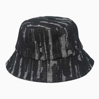 Bucket Hat men Tie dyed fisherman's hat and women's blue cowboy personality trendy hip hop sunshade summer thin