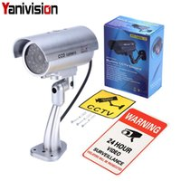 Fake Camera Dummy Waterproof Security CCTV Surveillance With Flashing Red Led Light Outdoor Indoor IP Cameras