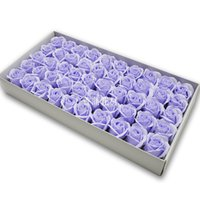 50pcs 직경 4.5cm 저렴한 비누 장미 머리 뷰티 결혼식 발렌타인 선물 결혼식 꽃다발 홈 장식 손 꽃 예술 1939 v2