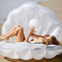 170см гигантский надувной бассейн раковины поплавковый дизайн поплавок 2021 летняя вода воздух лонту моллюсков с жемчугом шерстяной гребешок плавает плавает трубы
