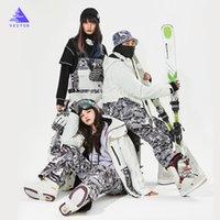VECTOR Men Women Ski Suit Ski Jacket+Ski Pants Bib Overalls Winter Warm Windproof Waterproof Outdoor Sports Snowboard Skiing Set