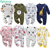 Newborn Baby Boys Girls Romper Pajamas Infant Clothing Cotton Long Sleeve Print O-Neck Comfy Jumpsuit Toddler Clothes Outfits_xm