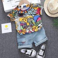 Clothing Sets Children Clothes Summer Baby Boy Cartoon T-shirt+ Shorts 2Pcs sets Infant Outfit Kids Fashion Toddler Tracksuit