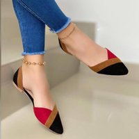 Sandals Casual Flats Women Shoes Comfortable Office Ladies Fashion Mixed Colors Pointed Toe Slip-On Female 2021