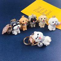 Happy Dog Keychain Schnauzer Retriever Shiba Comfort Allein Single Mädchen Tasche Anhänger Schlüsselanhänger Männer Junge Gutes Glücksgeschenk Schlüsselanhänger
