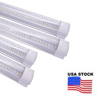 Lumières de tube LED 144W 8ft 4ft 7ft 72W Integrated T8 SMD2835 110LM / W Haute Couvercle transparent lumineux AC 85-265V 10000LM 14400LM 7200LM USALIGHT