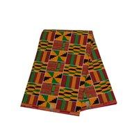 Африканские ткани Кенте Хлопок Батик Двухсторонняя Печатная Ткань Голландский Воск