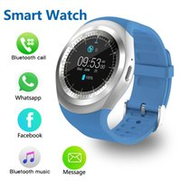 Y1 Smart Watch Waterproof Smartwatch Women Men Fitness Tracker Sport Watches Phone Heart Rate Monitor Blood Pressure Functions Wristwatch for IOS Android