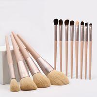 Escovas de maquiagem profissional Set 12pcs / Set Powder Foundation Blush Sobrancelha Eyeshadow Brush Kit Tools Top Quality