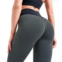 Женская одежда Tik Tok Leggings Женские задние подъемные тренировки колготки плюс размер спортивные высокие талии йоги брюки 3x-Bard
