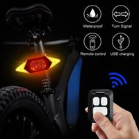 Smart Bike Turning Signal Cycling Taillight Intelligent USB Bicycle Rechargeable Rear Light Remote Control LED Warning Lamp Lights