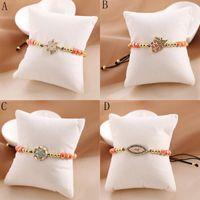 Fashion Woven Natural Stone Bracelet Crystal Woven Adjustable Beaded Bracelet Women Jewellery Pulseira Feminina Gifts