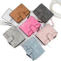 Casual PU Hasp Purses Luxury Short Square Wallets for Women