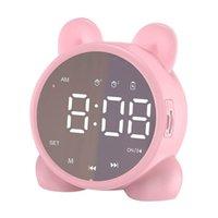 Lindo Cat Bluetooth Altavoz Alarma Reloj de alarma LED Reloj digital Chicas Cama Reloj despertador Despertar Temperatura Snooze Alarma