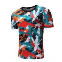 CRD Hipster Harajuku Graffiti Baskı Streetwear Kollu Adam T-Shirt Dener Lüks Tişörtleri Hip Hop Rahat Moda Kısa Erkekler Tişörtler S Tshirts M
