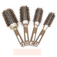 Hair Brushes Multiple Series Aluminum Barrel Thermal Ceramic Ionic Nano Round Brush Professional Styling Anti-Static Detangling Air Roll Com