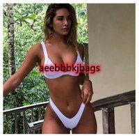여성 마이크로 비키니 세트 2020 푸시 업 스위치 솔리드 비치 수영복 Brazilian Thong Swimsuit Girls Bikini 수영복 Femme Beachwear