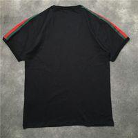 20ss الأزياء الشارع رجل الشهير عالية قميص جودة النمر رئيس المطبوعة البلوز بولو قصيرة الأكمام تي شيرت الرجال