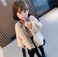 Толстовки для толстовок Фиксимальный стрельбаКашмера Зимний Корейский Девушки Lamb et Cardigan Детская одежда